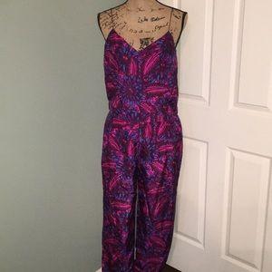 J crew floral silk pantsuit